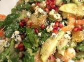 Gluten Free Herbs And Pecan Quinoa With Pomegranate Dressing