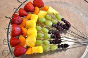 Rainbow Fruit Kabobs And A Pot Of Gold For Dipping Delight