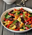 Rainbow Pepper Pasta Salad