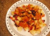 Raw And Organic Apple Raisin And Cinnamon Salad