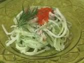 Raw Cucumber Pasta With Aioli Sauce