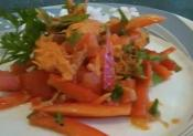 Red Bell Pepper And Carrot Salad