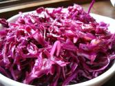 Red Cabbage Salad With Rugged Garlic Dressing
