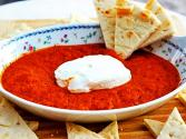 Baked Roasted Red Pepper And Chevre Cheese