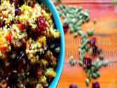 Red & White Quinoa With Roasted Squash, Pumpkin Seeds & Cranberries