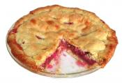 Sweet Cream Rhubarb Pie