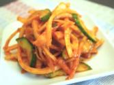 Korean Food: Bellflower Roots Side-dish (도라지 무침)