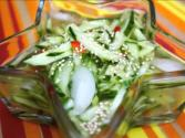 Korean Food: Cold Cucumber Side-dish (오이 냉국)