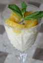 Creamy Nutmeg-spiced Rice Pudding With Orange And Mint Yogurt