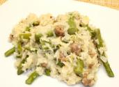 Basmati Rice With Asparagus And Sausage