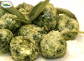 Easy Spinach And Cheese Dumplings Flavored With Butter And Sage