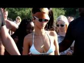 Rihanna On A Polish Beach In A Skimpy Bikini