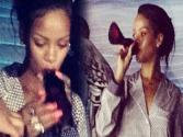 Rihanna Drinks Alcohol From A Shoe?!?!