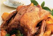 Roast Goose With Apple Stuffing