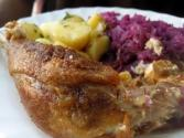 Roast Goose With Potato Stuffing