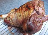 Roast Leg Of Lamb With Spring Vegetables