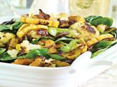 Roasted Cauliflower &amp; Delicata Squash With Baby Spinach