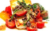 Roasted Halibut With Tomato Olive Salad