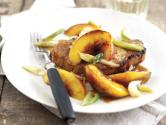 Roasted Pork Chops With Sweet And Sour South African Nectarines