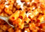 Ditalini Pasta With Roasted Tomato Sauce & Goat Cheese