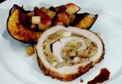Pheasant With Leek And Pecan Stuffing