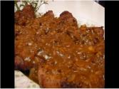 Betty&#039;s Pounded Round Steak With Onion Mushroom Gravy