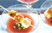 Saganaki Martini With Gin And Tomatoes