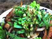 Salad : Healthy : Crispy Pork Jowl Salad With Doenjang Dressing