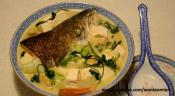 Salmon Head And Tofu Soup