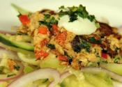 Salmon Cakes With Asian Salad