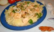 Spaghetti Cooked With Seafood 
