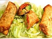 Smoked Salmon And Avocado Egg Rolls 