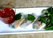 Sardines Spring Rolls Vietnamese Style