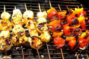 Garlic Rosemary Scallop Kabobs