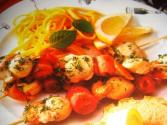 Scallops En Brochette