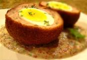 Scotch Eggs With Grain Mustard Sauce