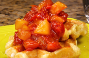 Waffles With Tomato Apple Sauce