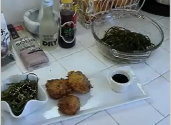 Deep-fried Wasabi Sea Scallops With Wakame Salad