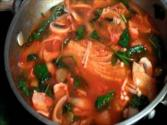 Korean Food Jjamppong Spicy Seafood Noodle Soup