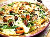 Korean Food: Seafood And Green Onion Pancake (해물 파전)