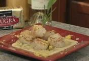 Scallops And Asparagus With Creamy Herbed Butter Sauce