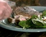 Seared Tuna Steaks With Spinach And Goat Cheese Salad