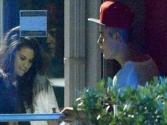 Selena Gomez Visits Justin Bieber At His Recording Studio - Love Is In The Air