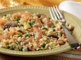 Shrimp Fried Rice And Mushrooms