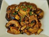 Stir Fried Bamboo Shoots With Shiitake Mushrooms