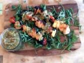 Sweet Chilli Chicken Prawn Skewers - Myvirginkitchen