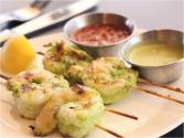 Skewered Shrimp With Ginger And Jalapeno
