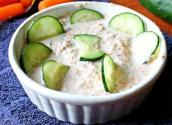 Sliced Cucumbers In Sour Cream