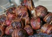 Smoked Teriyaki Style Bacon Wrapped Meat Balls