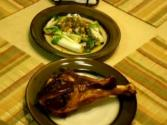 Smoked Turkey Leg With Bok Choy